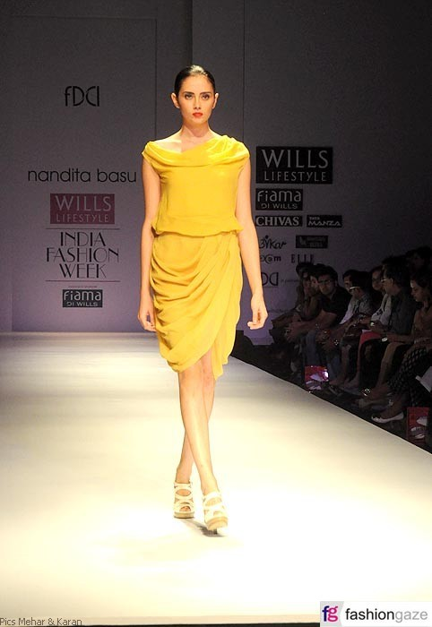 Gallery title: Nandita Basu at Wills Lifestyle India Fashion Week S/S'12
