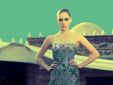 Model in Charu's WLIFW AW 13 collection