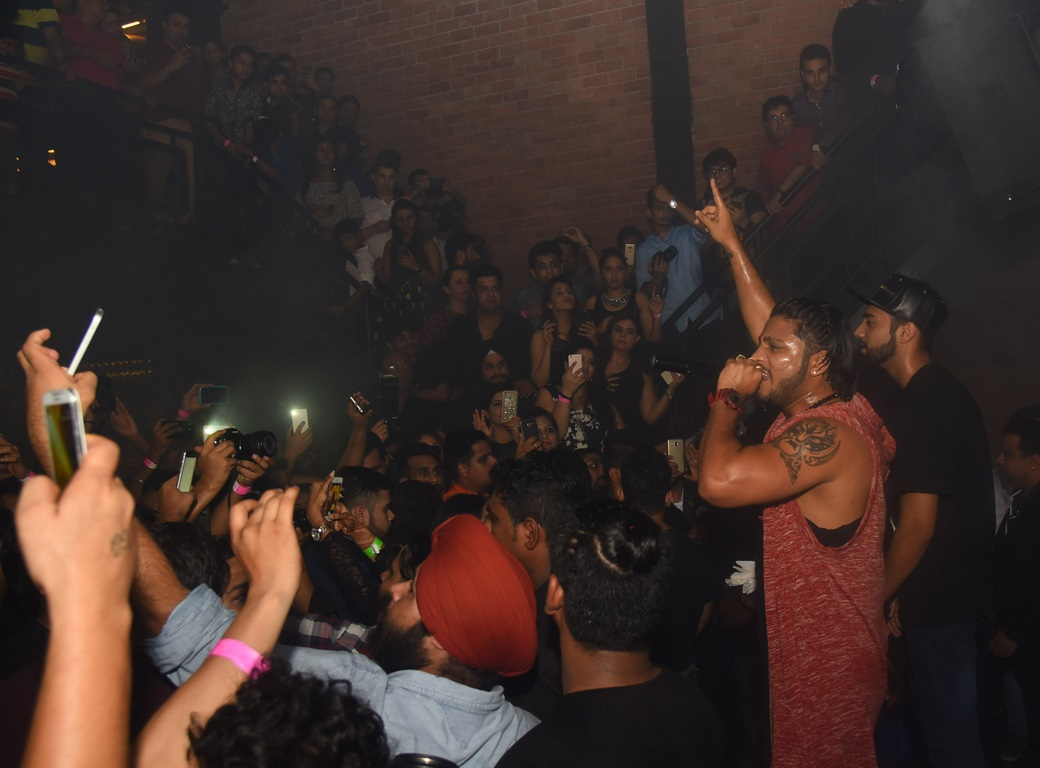 Rapper Raftaar live performance on the Grand Launch of