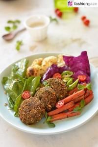 Filafel with Winter Vegetables