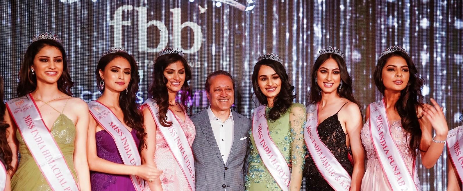 Times Group MD. Vineet Jain with Femina Miss India North Finalist