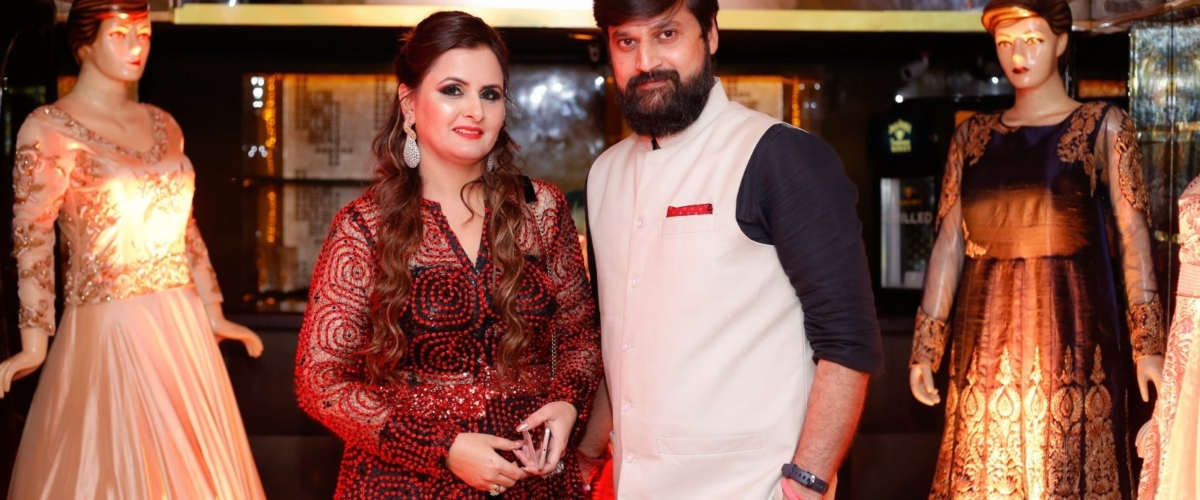 Designer Radhika Verma with Surveshwar Sarvesh