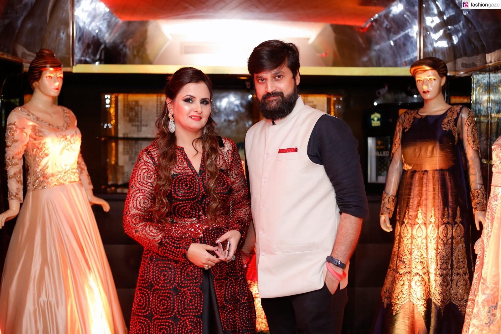 Designer Radhika Verma with Surveshwar Sarvesh